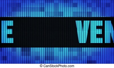 VENICE Front Text Scrolling LED Wall Pannel Display Sign...