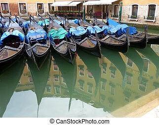 Venice Gondola Reflections