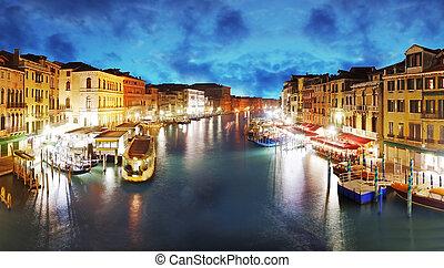 Venice - Grand Canal from Rialto bridge, Italy