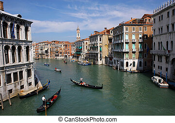 Venice Grand Canal - Grand Canal in venice, Italy.