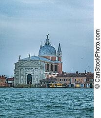 Venice Grand Canal, Italy - Winter urban scene at grand...