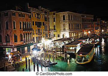 Venice Grand Canal on a clear night