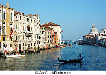 Venice Grand canal view,Italy, old city center - unesco heritage site