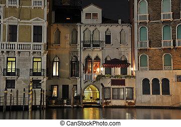 Venice Grand Channel - Venice grand channel during the night...