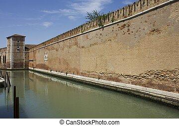 Arsenal walls - Venice, historic Arsenal walls