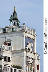 Venice in Italy the Bell Tower called Campanile dei Due Mori...