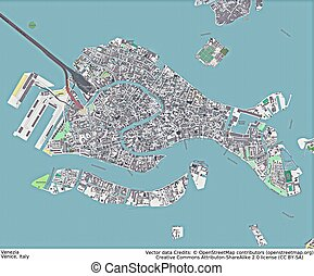 Venice Italy aerial view