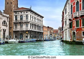 Venice. Italy. Bright ancient build