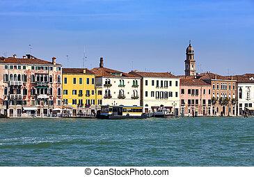Venice. Italy. Bright ancient house