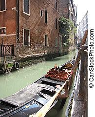 venice italy canal with gondola