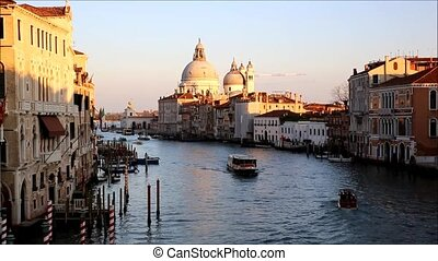 Venice, Italy - Beautiful view of Canal Grande in Venice,...