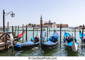 Venice, Italy - San Giorgio Maggiore, a 16th-century...