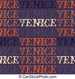 Venice, Italy seamless pattern