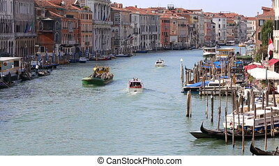 view of Grand Canal at Venice - VENICE, ITALY - SEPTEMBER...