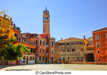 Venice, Italy. Venetian old architecture