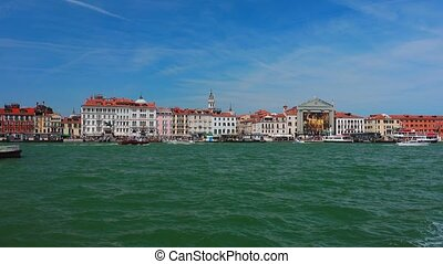 Venice Italy - view of Venice from the sea