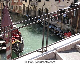venice italy with gondola