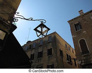 venice italy with street light