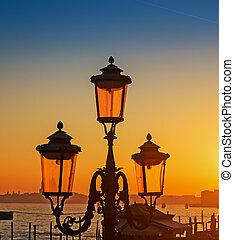 Venice lamppost