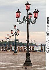 Venice lampposts.