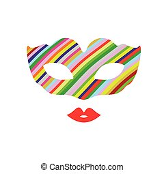 venice mask color illustration
