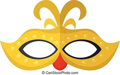 Venice mask icon, flat style