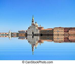 Venice on blue sky