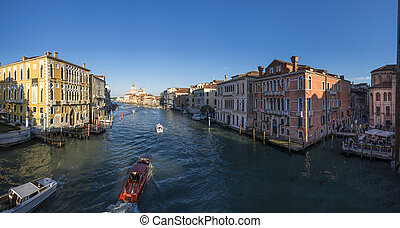 Venice panoramic view from Ponte Accademia - Venice Gran ...