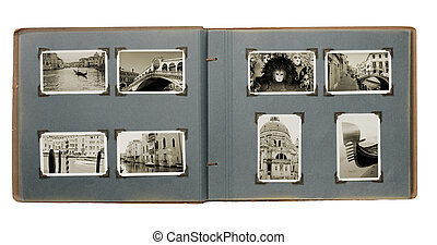 Venice Photo Album - Old photo album with (new) photos from...