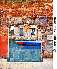 Venice picturesque, small landing place
