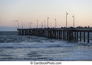 Venice Pier at Twilight