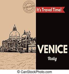 Venice, retro touristic poster
