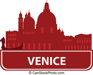 Venice skyline. Vector ilustration for you design