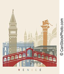 Venice skyline poster
