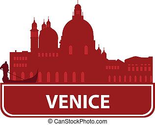 Venice skyline. Vector ilustration for you design