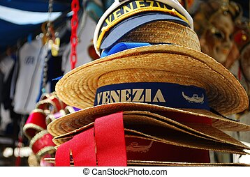 Venice, souvenir hats - Venice souvenir hats as a...