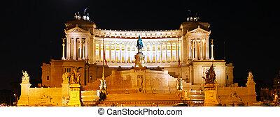 Venice Square in Rome . Night View. Italy