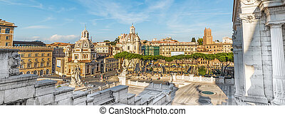 Venice square seen from altar of the fatherland