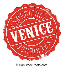 Venice stamp rubber grunge