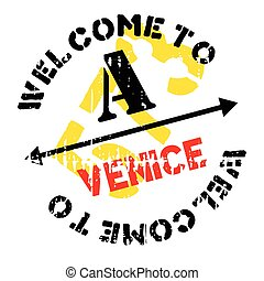 Venice stamp rubber grunge
