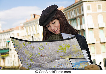 Venice - tourist attractions: this girl got lost in Venice