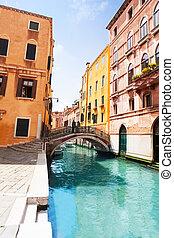 Venice street and bridges