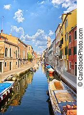 Venice street canal