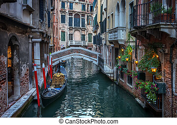 venice street on evening time