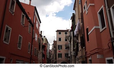 Venice style houses of the city of Chioggia