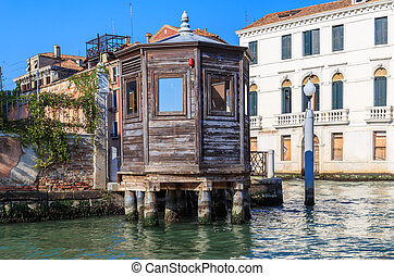 Venice, the traffic controller house