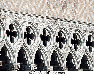 Venice - tracery from the Doge's Palace, one of venice...