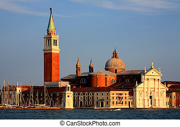 Venice - Venetian architectural details painted in sunset...
