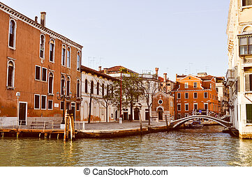 Venice Venezia - View of the city of Venice (Venezia) in...