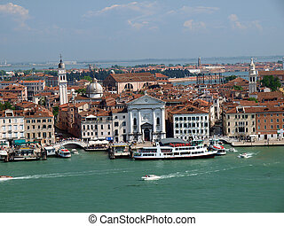 Venice - view from the tower of the church of San Giorgio ...